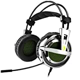 Gaming Headset, Sades SA-928 Stereo Lightweight PC Gaming Headphones 3.5mm Jack with Mic for Laptop PC/MAC With Free Headset Splitter Adapter
