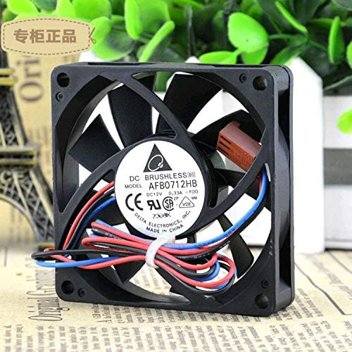 Original FOR Delta DELTA AFB0712HB DC12V 0.33A 70x70x15MM double ball cooling fan