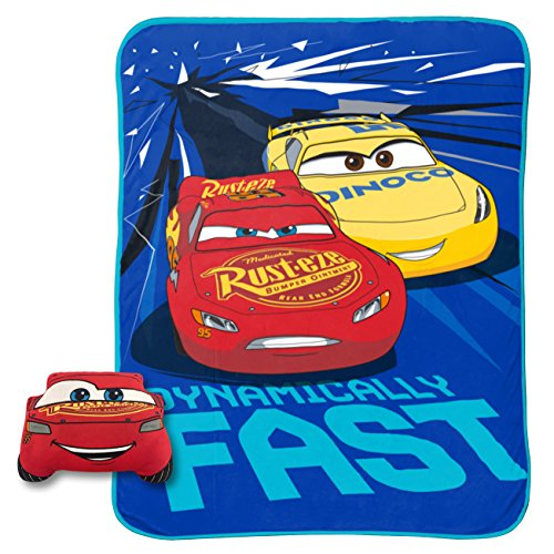 Cars 2 Piece Bath - Disney Cars Built For Speed Lightning McQueen Plush Nogginz Pillow and 62