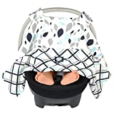 Balboa Baby Car Seat Canopy Navy Leaves, Multi