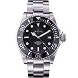 Davosa Swiss Automatic Watch for Men - Analog Mechanical Ternos Professional 500m Dive Watch, Stainless Steel Wristband Ceramic Bezel (16155950)