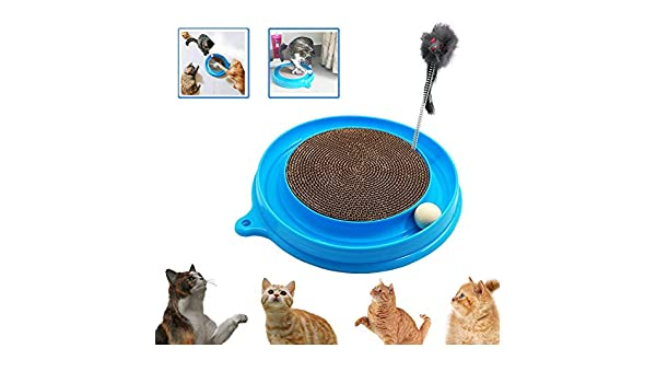 Amazon.com : Best Quality cat Turbo Scratcher Toy, cat Turbo Toy, Post pad Interactive Training Exercise Mouse Play Toy with Turbo and Ball Blue : Pet ...