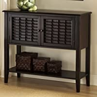 Hillsdale Furniture 4783-850 Bayberry Sideboard with 2 Doors Bottom Shelf Bamboo Effect and Clean Lines in Dark
