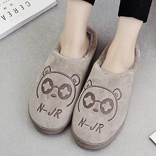 37 Couple Et 38 Épaissie Bas Laine Coréenne Bas Coton TD Version Confortable Belle Pantoufles Automne C Chaussures Couleur Doux en Femelle B Taille Paquet Hiver Épais Maison Intérieur xFUq4Iq0w