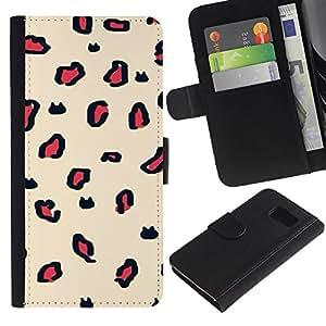 All Phone Most Case / Oferta Especial Cáscara Funda de cuero Monedero Cubierta de proteccion Caso / Wallet Case for Samsung Galaxy S6 // Animal Pattern Fur Texture Beige