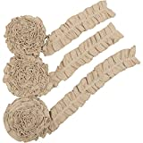 VHC Brands Farmhouse Holiday Decor-Burlap Vintage White Garland Set of 3