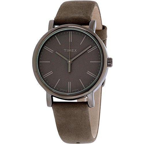 Timex Originals Tonal Gray Dial Leather Strap Ladies Watch TW2P96400