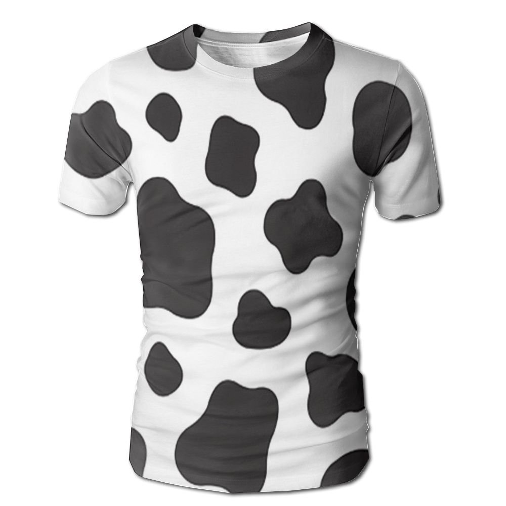 Amazon Cow Print Mens 3d Full Printed T Shirt Casual Short
