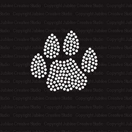 Image Unavailable. Image not available for. Color  Large Paw Print Iron On Rhinestone  T-shirt Transfer by JCS Rhinestones d709246393f5