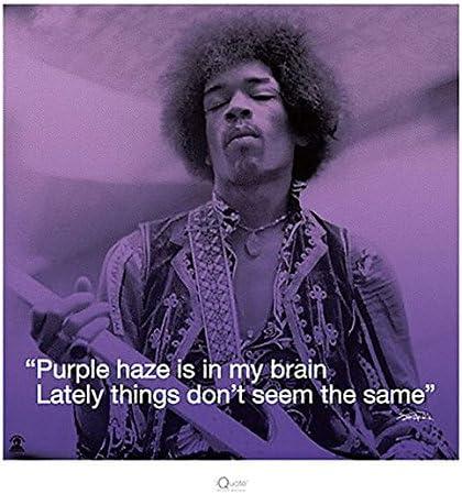 Jimi Hendrix Purple haze lyric art print
