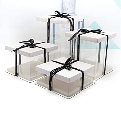 FGEAHDG caja de regalo 4-16 pulgadas Caja de regalo blanca Caja de ...