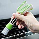 Brushes - 1Pc Cleaning Brush Multi-function Car Internal Cleaner Tool Double Head Cloth Keyboard Air Outlet Vent Dust Cleaning Tools (As Picture)