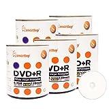 Smart Buy 500 Pack DVD+R 4.7gb 16x White Printable Inkjet Blank Media Record Disc, 500 Disc 500pk
