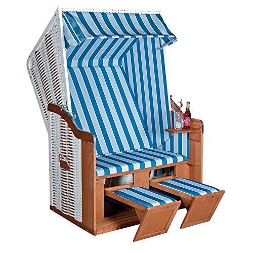 Sunny Smart Strandkorb Rustikal 50 Basic Plus Stoff-Nr. 1171, Halbliegemodell
