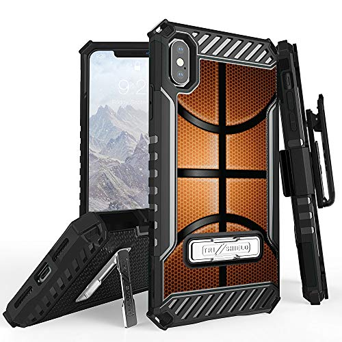 Trishield Series for iPhone Xs Max Case, Military Grade Rugged Cover + [Metal Kickstand]+[Belt Clip Holster] for Apple iPhone Xs MAX 6.5