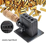 Reversible Jewelry Ingot Mould Oil Groove Mold Making Tools Melting Casting Metal Tool for Sheet Bar Gold Silver Casting, 20 8 8cm