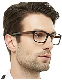 Mens Rectangle Fashion Stylish Acetate Eyewear Frame With...