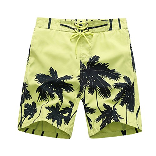 APTRO Boy's Coconut Tree Printing Kids Holiday Board Shorts Green XL