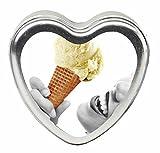EB-HSCK002 - Vanilla Edible Massage Oil Heart Candle - 4 oz.