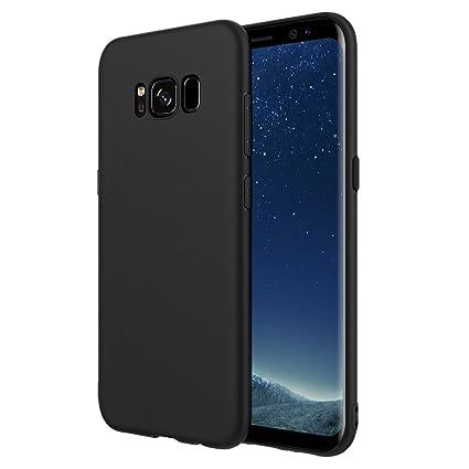 Simpeak Funda Compatible Samsung Galaxy S8, Funda Gel Silicona Samsung Galaxy S8 Premium Carcasa Samsung Galaxy S8 (5,8 Pulgadas),Negro