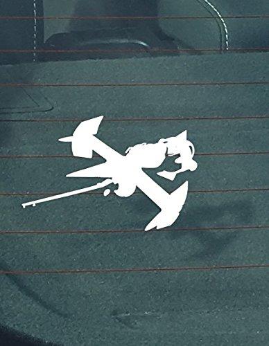 NI613 Cowboy Bebop Swordfish Decal   5.5-Inches Wide   Premium Quality White Vinyl Decal