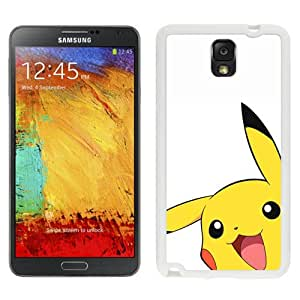 Pokemon Popular Cute and Funny Pikachu 03 White Samsung Galaxy Note 3 Screen Cover Case Genuine and Durable Design