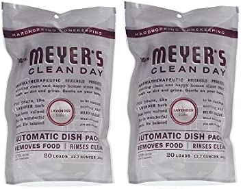 Mrs. Meyer's Clean Day Automatic Dish Packs, Lavender, 20 ct, 3 un Mrs. Meyer' s Merged