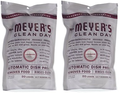 Mrs. Meyers.. Clean Day Automatic Dish Packs, Lavender, 20 ct, 3 un (2-(Pack))