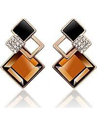Beauty Jewelry Shop 2015 Fashion Cubic Jewelry Stud Earrings Double Ball Stud Earrings For Women