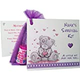 Nanas Survival Kit. Keepsake Card and Gift ideal for Mothers day or a Birthday Gift for Nana by littletreasurebags