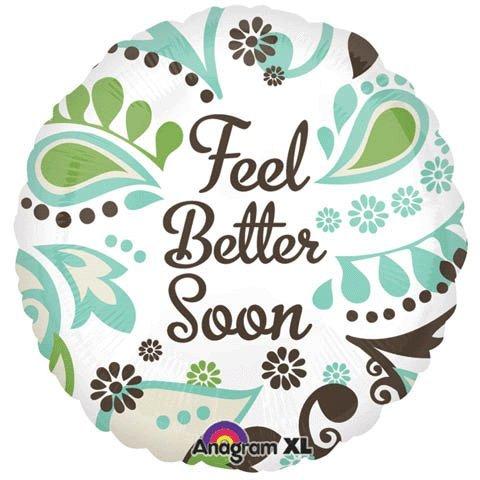 "Get Well Soon / Feel Better Foil Balloon 18"""