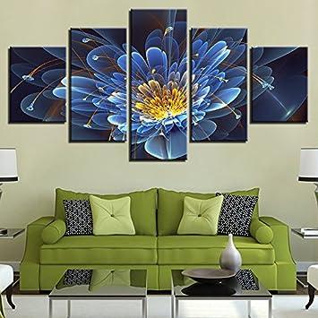 Cuadros de lienzo, arte de pared, 5, hermosas violetas de fantasía, carteles florales, cuadros abstractos, decoración del hogar, sala de estar