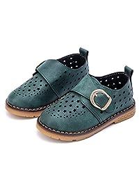 WUIWUIYU Kids Boys Girls Summer School Breathable Clogs Oxford Leather Shoes