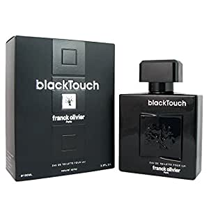Frank Olivier Black Touch for Men Eau De Toilette Spray, 3.3 Ounce