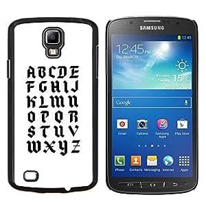 TECHCASE---Cubierta de la caja de protección para la piel dura ** Samsung Galaxy S4 Active i9295 ** --A a la Z