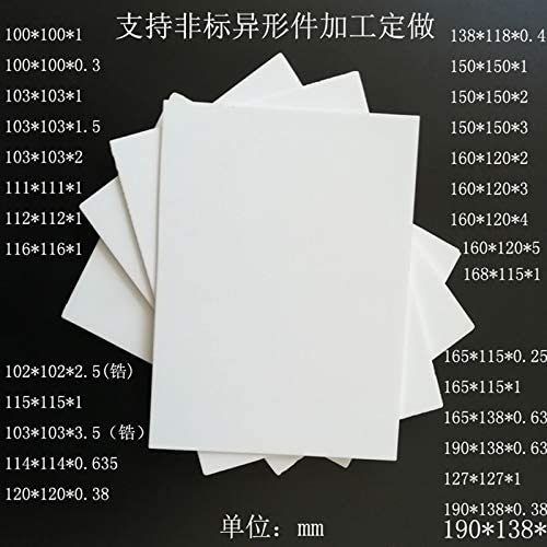 DN: 17x22x1 Holes Laliva Alumina ceramic sheet Insulation fins Transistor high-power heat sink Thermal insulation sheet High temperature resistance