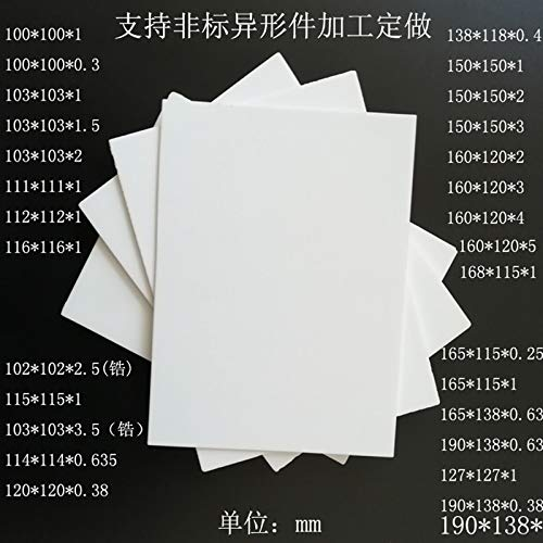 DN: 22x30x1 Holes Laliva Alumina ceramic sheet Insulation fins Transistor high-power heat sink Thermal insulation sheet High temperature resistance