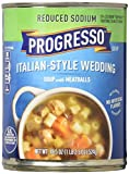 Progresso Reduced Sodium Soup, Italian Style Wedding with Meatballs, 18.5-Ounce Cans (Pack of 12)