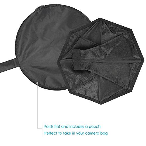 Nikon Sigma for Canon Nissin Panasonic Lumix Flashes Sony Sunpack Neewer Pro 8 inches//20 centimeters Universal Collapsible Octagon Studio Softbox Flash Diffuser for On Camera or Off Camera Flash Gun