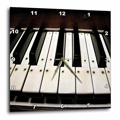 3dRose Piano Keys - Wall Clock, 13 by 13-Inch (dpp_20682_2)