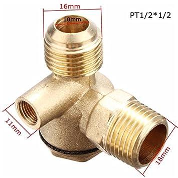 Tutoy 3 Vías compresor de Aire Piezas de Repuesto Macho Hembra roscada Válvula de Retención Conector de Tubo - #2: Amazon.es: Hogar