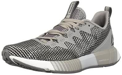 Reebok Women's Fusion Flexweave Running Shoe, tin Grey/Shark/Spirit White, 5 M US