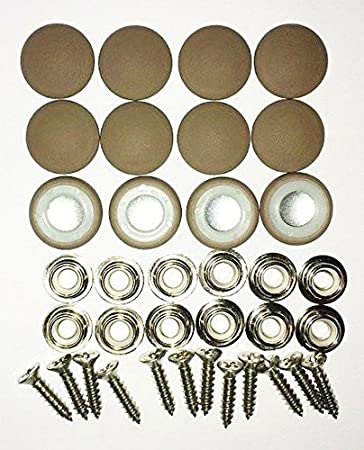 Amazon Com Set Of 12 Dura Snap Upholstery Buttons 30 Light Brown Vinyl