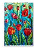 Metal Wall Art Decor Sculpture Floral Artwork 'Tulip Dance' Wall Hanging