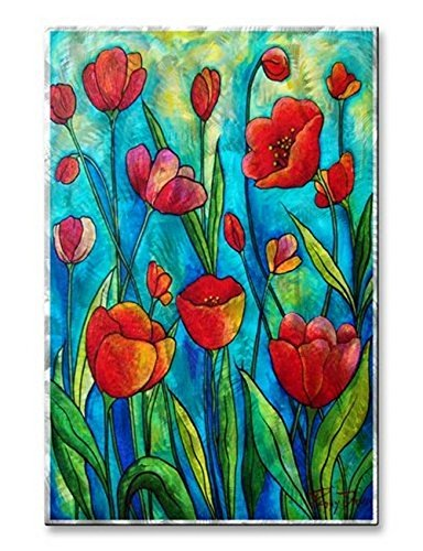 Metal Wall Art Decor Sculpture Floral Artwork 'Tulip Dance' Wall Hanging by All My Walls