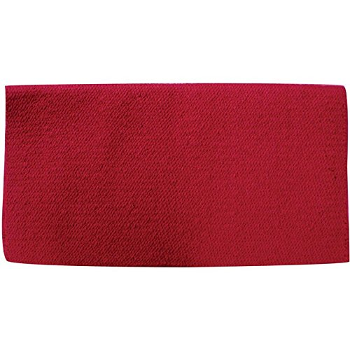 Mayatex San Juan Solid Saddle Blanket, Show Red, 36 x ()