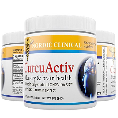 CurcuActiv Total Body Support Health Powder, 3 Oz. Potent Antioxidant Promotes Heart, Brain, Joint, Vision Health. Now with LONGVIDA-SD Curcumin, from Dr. Green