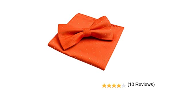 Alizeal Mini Topos-Pajarita y Pañuelo para Hombre Naranja: Amazon ...