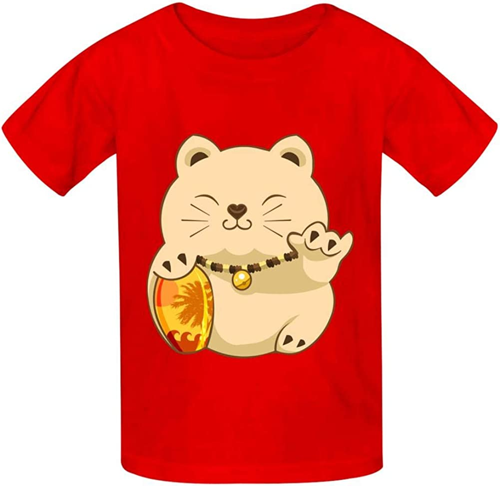 YYIL Lucky Shaka Childrens Comfortable and Lovely T Shirt Suitable for Both Boys and Girls
