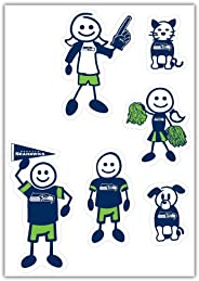 Siskiyou Sports NFL Seattle Seahawks Small Family Decal Set